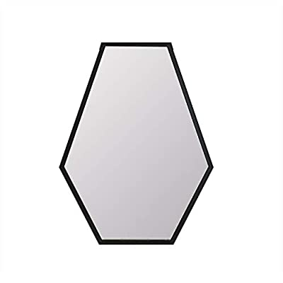 "Womio Modern Wall Mirror 19.7""x27.5"" Diamond Shape Bathroom Frame Mirrors,Wall-Mounted Dresser Home Decor,Black"
