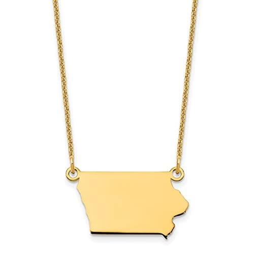 Jewelry-14KY Iowa State Necklace