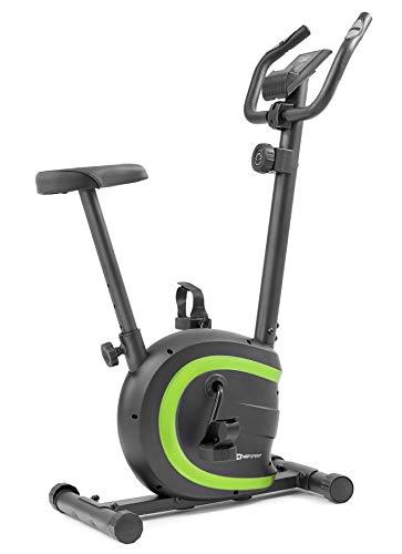 Hop-Sport HS-015H Heimtrainer Fahrrad für Zuhause - kompaktes Fitnessbike ideal für Senioren - Fitnessfahhrad mit Trainingscomputer für EIN max. Nutzergewicht von 120kg Limettengrün
