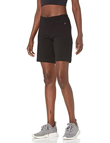 Danskin Women's Essential Side Shirred Bermuda Short, Black, Small