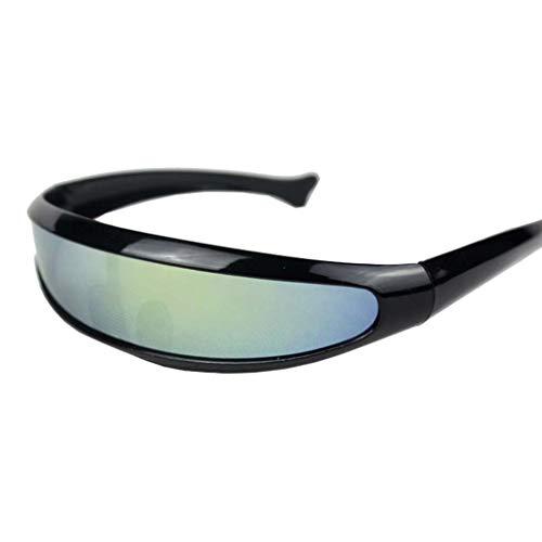 RISTHY Gafas de Sol Deportivas Al Aire Libre Cola de Pescado Gafas Protección UV para Hombres Mujeres Ciclismo Correr Conducir