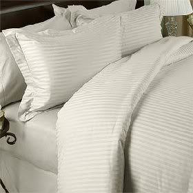 Learn More About Cream (Ivory) Stripe Olympic Queen Size Size SIX Piece [6] Bed Sheet Set (Deep Pock...