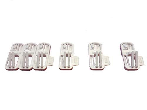 Speed Clix Gardinengleiter mit Neuer einzigartiger Doppelklick-Funktion um schnell und einfach Gardinen auf zu hängen 75 Stück Made in Germany, geeignet für Schienen mit Einer Laufnut von 3,5-4 mm.