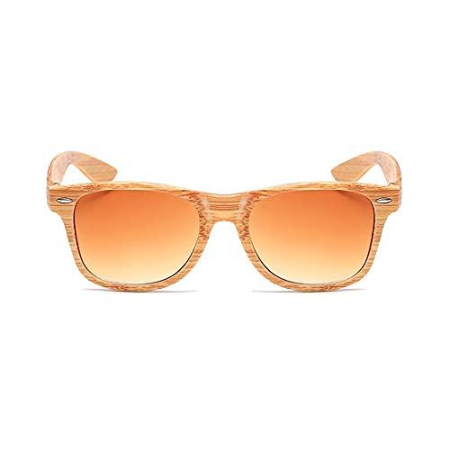 Hanpiyignstyj Gafas De Sol, Gafas de Sol de Madera Polarizadas OODEN Marco 100% protección UV, Adecuado para Viajes, Costas y Compras