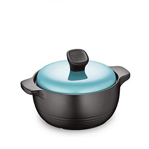 CYQ Olla de Cocina Saludable Ollas de cerámica de 2,5 l, Cacerola, para cocinar Sopa, fácil Agarre fácil de Verter, Apto para Estufa de Gas, Estufa de Llama Abierta