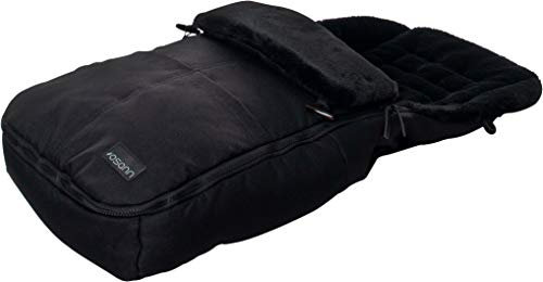 Osann Fußsack für Kinderwagen & Buggy, warmer Thermo Winterfußsack mit Fell - Black