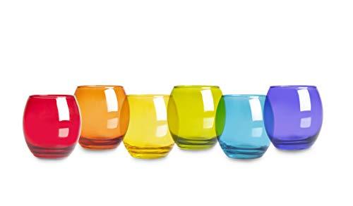 Excelsa San Josè Set 6 Bicchieri Acqua, Vetro, Multicolore