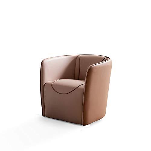 Sofá de piel de estilo inusual, balón moderno para dormitorio.