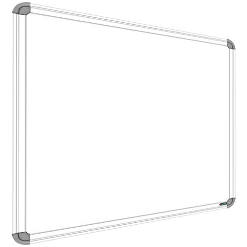 YAJNAS Non-Magnetic 2x3 Feet Double Sided Both Side Writing one Side White Marker and Reverse Side Chalk Board Surface (Pack of 1, Size 2feet x 3feet, White & Green)