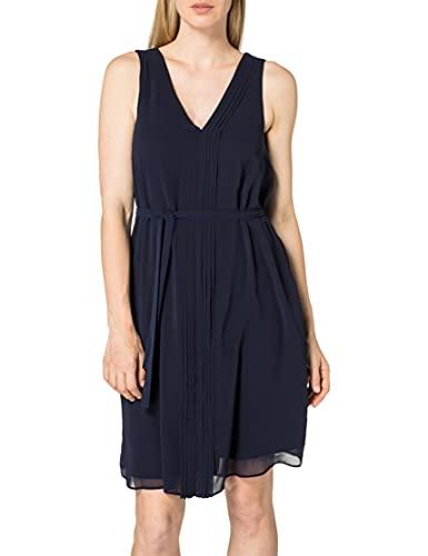 ESPRIT Collection Damen 031EO1E318 Kleid, 400/NAVY, 40