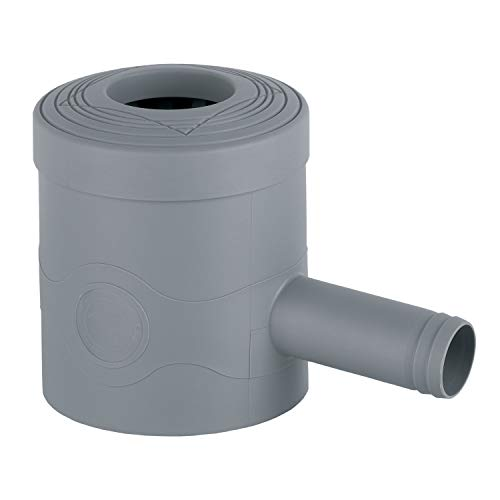 3P Technik Filtersysteme Filtre à eau de pluie standard gris pour tuyaux de descente de 68 à 100 mm de diamètre et tuyaux carrés de 60 x 60 mm pour remplir les citernes de pluie, les tonneaux de pluie et les citernes d'eau de pluie