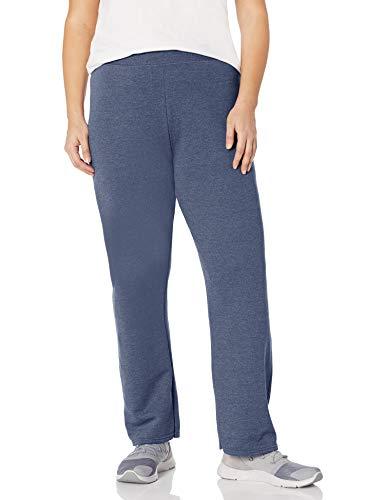 Just My Size Women's Plus-Size EcoSmart Sweatpants Length, Navy Heather, 2XL Petite