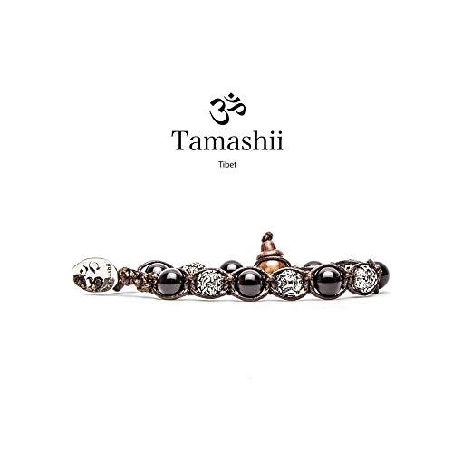 Tamashii Tibet Bracciale Ruota Preghiera Onice Nero