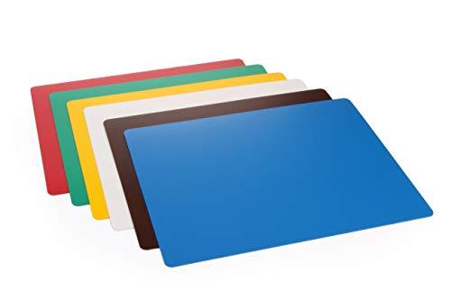 HENDI Schneidfolienset,HACCP, 6er-set für optimale Küchenhygiene, weiß, rot, blau, grün, braun, gelb, 300x200mm, Polypropylen