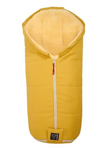 Kaiser 6720442 Lammfell Fußsack Iglu Aktion, mustard yellow, gelb