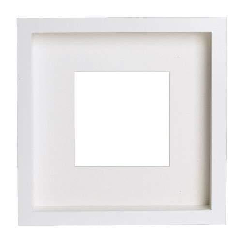 2 XIKEA RIBBA Rahmen in weiß; (23x23x4,5cm)