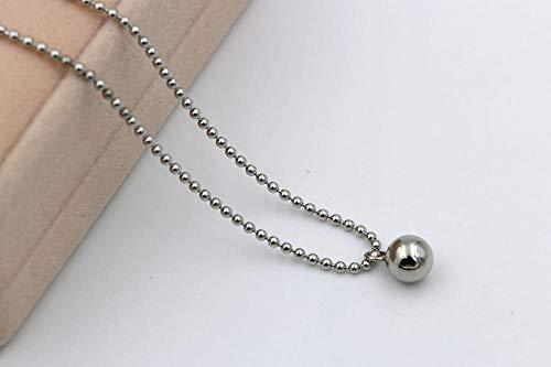 MNMXW onda di modo di qualità della collana della perla dei branelli rotondi della sfera rotonda delle donne gioielli-Argento placcato