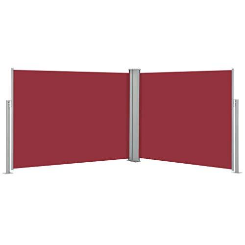 WELLIKEA Ausziehbare Seitenmarkise Rot 170 x 1000 cm