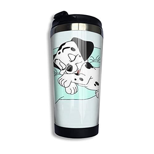 101 Dálmatas taza de café con aislamiento al vacío, de acero inoxidable 304, hermoso y práctico 400 ml