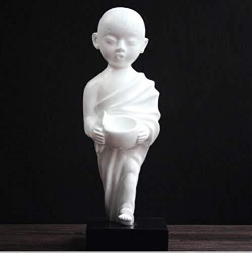BGHYU Escultura de Buda Zen Estatua Decoración del hogar Artesanía Decoración-A_15 * 46CM