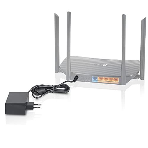 Wicked Chili 12V Fuente de alimentación para WLAN Router Compatible con TP Link Archer C6, C60, C7, A7, C1200, C2300, C80, AX10, AX7, A8, A9, A10, AX1500, AX50, AX20 (2,5A, 30W, 1,5m) Negro