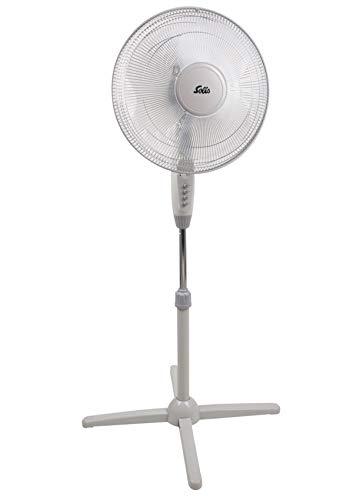 Solis Standventilator 748 - Ventilator Leise - Höhenverstellbar (120-140 cm) - 3 Verschiedene Geschwindigkeiten - 140 cm Höhe - Weiß