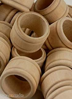 Wood Napkin Rings - Pack of 25 - Wedding Event and Home Decor