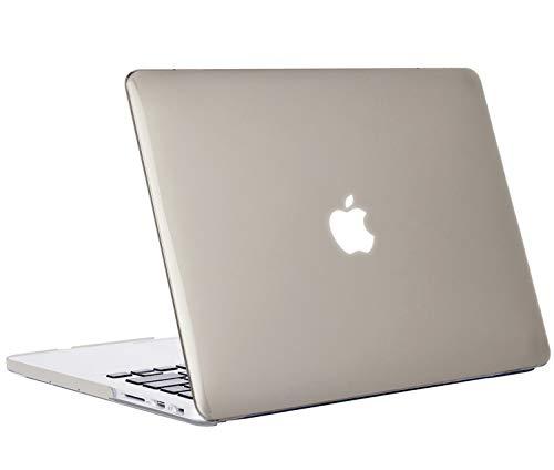 iNeseon Custodia MacBook PRO 13 Retina (Modello A1502 A1425),Plastica Case Cover Duro e Trasparente Tastiera Copertina per 2012-2015 MacBook PRO 13(31,4 x 21,9cm) con Retina Display, Grigio