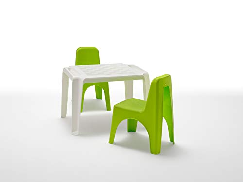 BICA Set di Sedie e Tavolo per Bambini, Polipropilene, Mida Lime