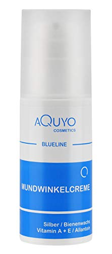 Blueline Mundwinkel & Lippen Creme (100ml) | Lippenpflege für trockene, spröde, entzündete oder eingerissene Mundwinkel und Lippen | Gesichtspflege bei Akne oder unreiner Haut im Gesicht