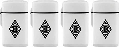 Rubber Feuerzeug Borussia Mönchengladbach Sturmfeuerzeug weis Ligther BMG + Sticker Mönchengladbach Forever