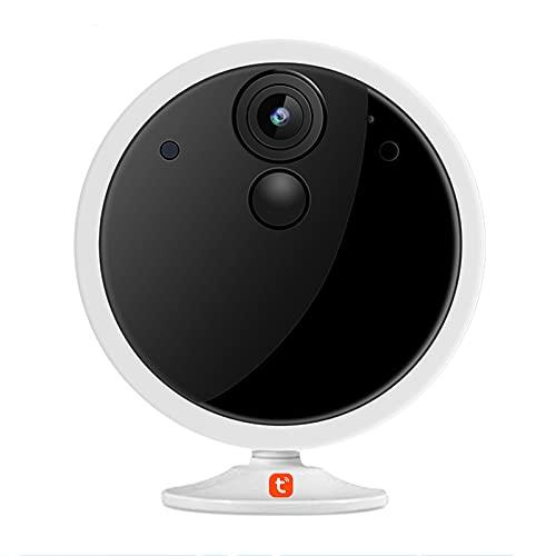 Tuya Smart WIFI Cámara IP inalámbrica, cámara HD 1080P 4800mAh Batería recargable Audio bidireccional Vigilancia de seguridad para el hogar Monitor de bebé con movimiento PIR,Camera