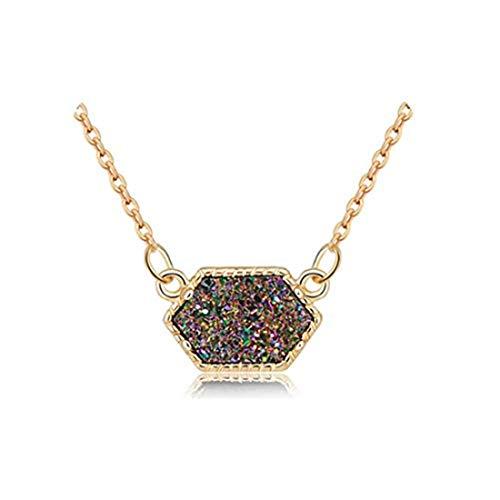 yichahu Collar de moda de drusa collar de piedra de marca de joyería para mujeres y niñas