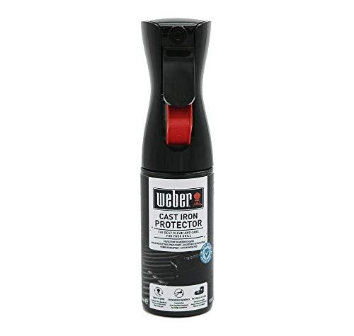 Weber 17889 Gusseisen Schutzspray, 200 ml, schütze Grillroste und Zubehör aus Gusseisen vor Rost und Korrosion