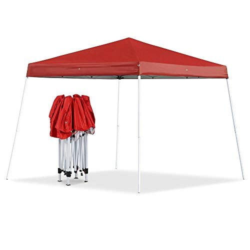 Yaheetech 10x10 Pop Up Canopy Tent Beach Sun Shade Easy Up Instant Shelter with Carrying Bag Red
