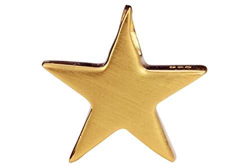 SILBERMOOS Damen Anhänger Stern Sternchen Star vergoldet klein u. massiv glänzend 925 Sterling Silber/Kette optional