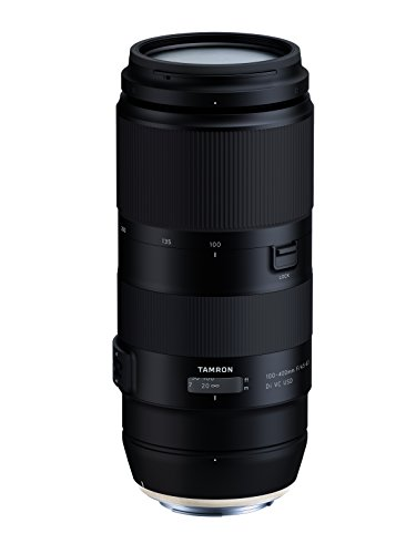 Tamron T80201 - Óptica Digital con Distancia Focal Variable para Canon (100-400 F/4.5-6.3, estabilizador de Imagen VC de 4 Pasos, Distancia mínima de Enfoque de 1.5 m) - Kit con Filtro 67 mm, Negro