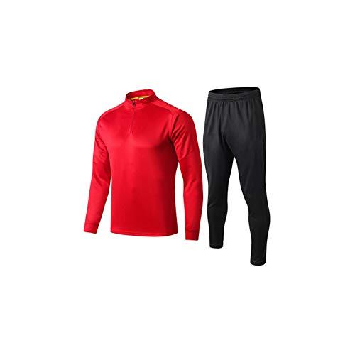Fútbol de entrenamiento traje de jersey de hombre y mujer, pantalones de deporte de los niños traje de fitness de entrenamiento de fútbol traje de entrenamiento de poliéster de fibra de poliéster (S-3XL), 123, color, medium