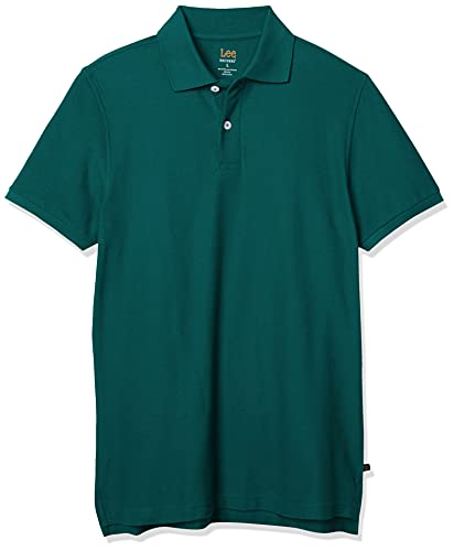 Lee Uniforms - Polo de Manga Corta para Hombre, Hunter Green, XX-Large