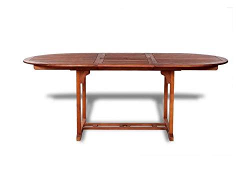 Pissente Gartentisch, Moderne Esstisch aus Akazienholz Klappbar Buffettisch für Garten Wohnzimmer Balkon, 200 x 100 x 74 cm