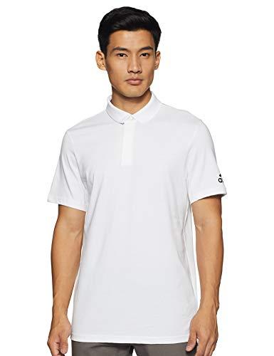 adidas Herren MH Plain Polo Shirt, White, L