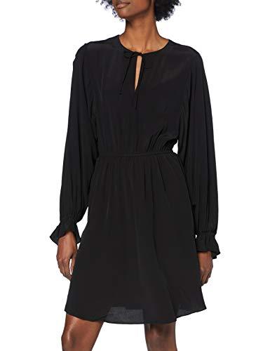 SELECTED FEMME SLFRIYANKA-Vienna LS Short Dress B Vestido, Negro, 40 para Mujer