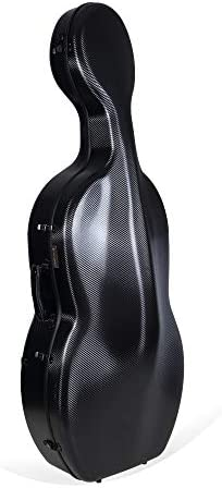 Crossrock 4 4 Cello Case Carbon Fiber Composite with Wheels and Backpack Withstand 660lb pressure product image
