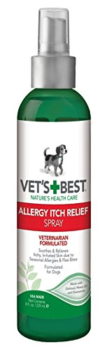 Vet's Best Allergy Itch Relief Spray for Dogs | Soothes Dog Dry Skin | Relieves The Urge to Itch, Lick, and Scratch | 8 Ounces