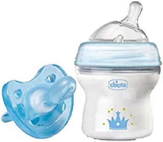 Chicco - Natural Feeling Feeding Bottle 150ml With Physio Soft Soothers Bundle Set - Blue