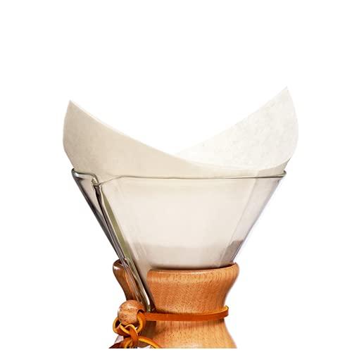 Chemex Papier-Filter FS-100, quadratische Filter für die 6, 8 und 10 Tassen-Karaffe, 100 Stück