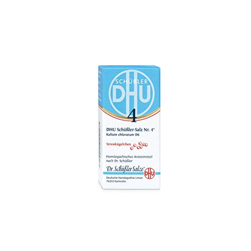 DHU Schüßler-Salz Nr. 4 Kalium chloratum D6 Streukügelchen, 10 g Globuli