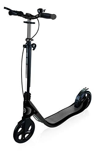 GLOBBER グロッバー キックボード 大人用 ハンドブレーキ付き 持ち運び便利 折り畳み式 家族で遊ぶ キック スクーター ワンNL205デラックス チタニウム/チャコールグレー WLGB478100