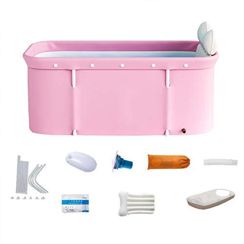 iBaste - Bañera plegable portátil, doble bañera plegable, bañera extra independiente, bañera para cabina de ducha, bañera para spa para adultos y baño caliente y hielo