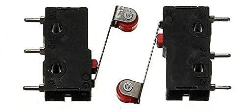 RIMEI Interruptor de límite Micro con Palanca de Rodillo KW12-3 Interruptor de Apertura/Cierre 5A 125V Piezas del módulo electrónico